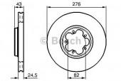 Bosch 0 986 478 299 Тормозной диск, 1шт