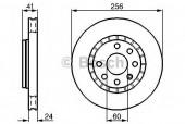 Bosch 0 986 478 327 Тормозной диск, 1шт