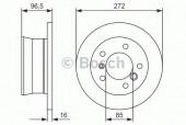 Bosch 0 986 478 433 Тормозной диск, 1шт