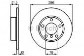 Bosch 0 986 478 511 Тормозной диск, 1шт