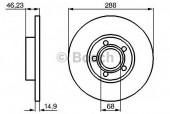 Bosch 0 986 478 545 Тормозной диск, 1шт