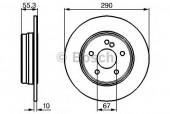Bosch 0 986 478 626 Тормозной диск, 1шт