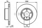 Bosch 0 986 478 848 Тормозной диск, 1шт