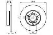Bosch 0 986 478 870 Тормозной диск, 1шт