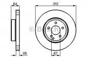 Bosch 0 986 479 040 Тормозной диск, 1шт