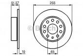 Bosch 0 986 479 099 Тормозной диск, 1шт