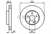 Bosch 0 986 479 137 Тормозной диск, 1шт