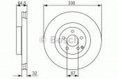 Bosch 0 986 479 415 Тормозной диск, 1шт
