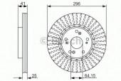 Bosch 0 986 479 744 Тормозной диск, 1шт