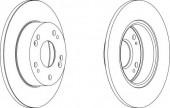 Ferodo DDF1390 Тормозной диск, 1шт