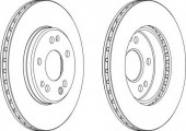 Ferodo DDF181 Тормозной диск, 1шт