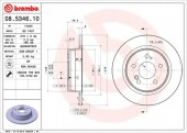 BREMBO 08.5346.10 Тормозной диск, 1шт
