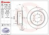 BREMBO 08.7106.10 Тормозной диск, 1шт