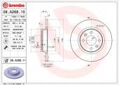BREMBO 08.A268.10 Тормозной диск, 1шт