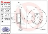 BREMBO 09.5142.24 Тормозной диск, 1шт