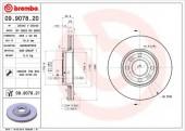 Brembo 09.9078.20 Тормозной диск, 1шт