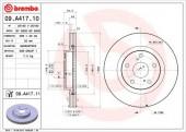 BREMBO 09.A417.10 Тормозной диск, 1шт