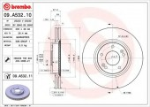 Brembo 09.A532.10 Тормозной диск, 1шт