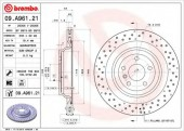 BREMBO 09.A961.21 Тормозной диск, 1шт