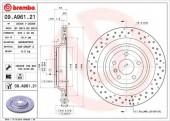 BREMBO 09.A961.21 Тормозной диск, 1шт