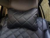 Аvторитет Подушка на подголовник из экокожи, черная