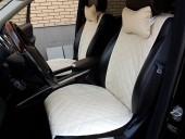 Аvторитет Premium Накидки из экокожи на передние сиденья, бежевые, 2шт