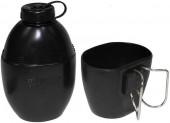 MFH Фляга с чашкой черная, 850мл