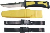 Fox Outdoor Нож для дайвинга, желто-черный