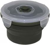 MFH Ланчбокс круглый складной темно-зеленый, 540мл