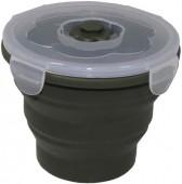 MFH Ланчбокс круглый складной темно-зеленый, 660мл