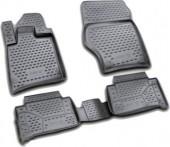 Novline Коврики в салон для Audi Q7 '05-14, полиуретан черные