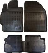 Novline Коврики в салон для Toyota Corolla 01/'07-12, полиуретан черные