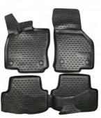 Novline Коврики в салон для Volkswagen Golf VII '12-, полиуретан черные