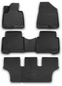 Novline Коврики в салон для Hyundai Grand Santa Fe '13-, полиуретан черные