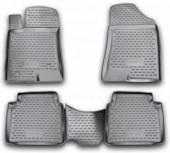 Novline Коврики в салон для Hyundai Grandeur '05-11, полиуретан черные
