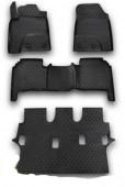 Novline Коврики в салон для Lexus LX 570 '12- 7 мест, полиуретан черные
