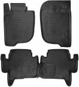 Novline Коврики в салон для Mitsubishi Pajero Sport '12-16, полиуретан черные