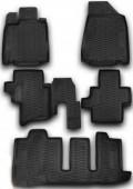 Novline Коврики в салон для Nissan Pathfinder '14- 7 мест, полиуретан черные
