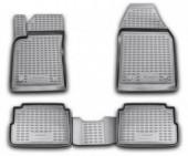 Novline Коврики в салон для Opel Vectra C '02-08, полиуретан черные