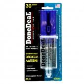 DoneDeal DD6565 30-минутный 2-компонентный прозрачный эпокси-адгезив в шприце