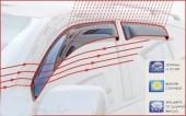 Novline Дефлекторы окон (ветровики) Daewoo Matiz '01-, черные 4шт