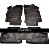 Avto-gumm Коврики в салон для Lada Kalina, резиновые черные
