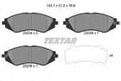 Textar 2323401 Тормозные колодки передние LANOS R14 TEXTAR