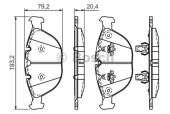 Bosch Low-Metallic 0 986 494 217 Тормозные колодки передние BMW X5 E53, комплект