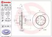 Brembo 09.3090.11 Тормозной диск передений на LANOS 1.5 Brembo