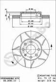 Brembo 09.3090.75 Тормозной диск Brembo MAX