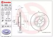 Brembo 09.5802.24 Тормозной диск Brembo
