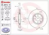BREMBO 09.9619.10 Тормозной диск Brembo