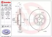 Brembo 09.A427.11 Тормозной диск Brembo Painted disk