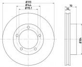 TEXTAR 92108103 92108100 Тормозной диск TEXTAR PRO
